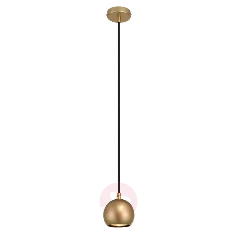 Brass-coloured LED hanging light Light Eye Ball - indoor-lighting