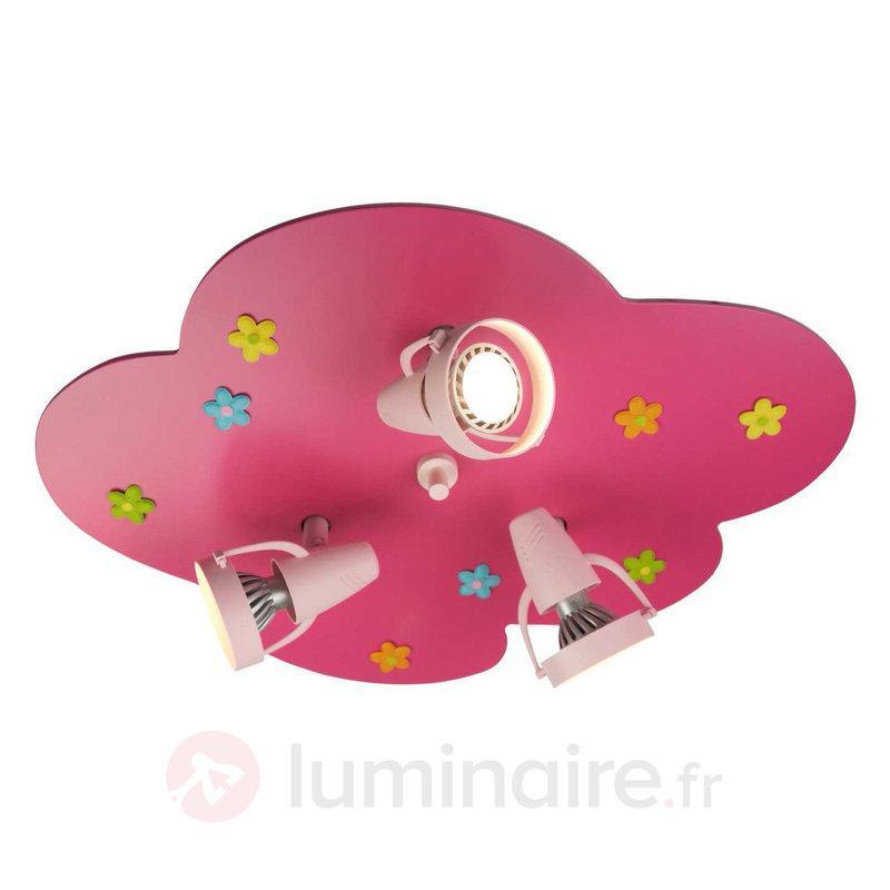 Plafonnier avec spot Petit Nuage avec motif floral - Chambre d'enfant
