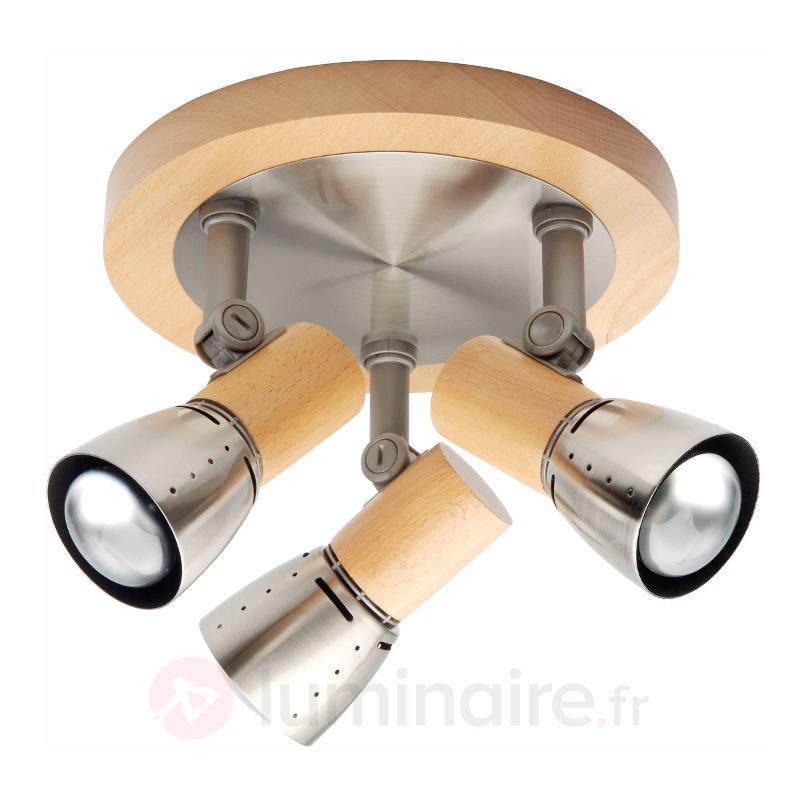 Plafonnier fonctionnel JUNNO à 3 lampes - Plafonniers en bois