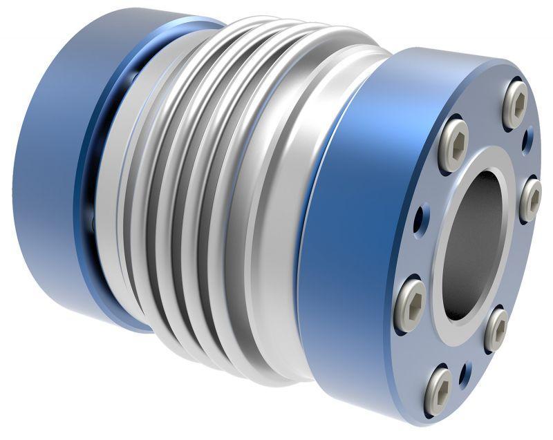 Metal bellows coupling KHS - conical hub on both sides - aluminium design