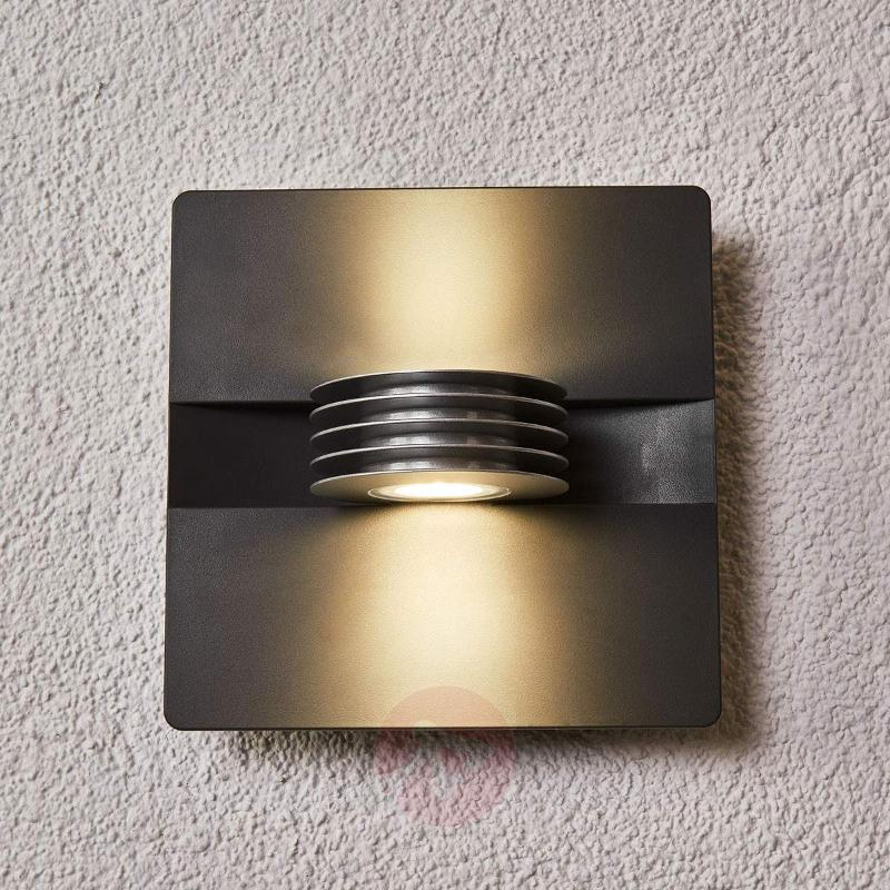Anthracite-coloured Split LED exterior wall light - Outdoor Wall Lights