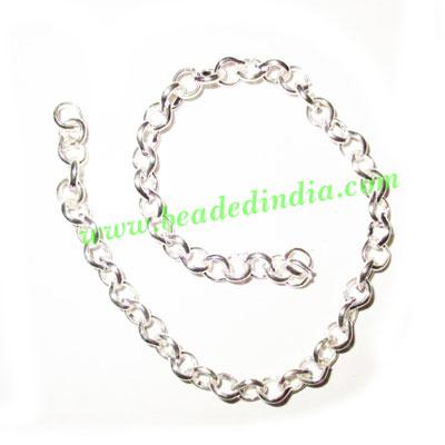 Silver Plated Metal Chain, size: 1x3mm, approx 45.2 meters i - Silver Plated Metal Chain, size: 1x3mm, approx 45.2 meters in a Kg.