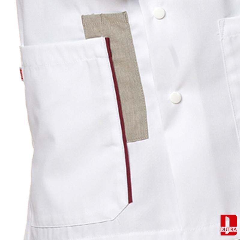 Veste pour personnel soignant  - Veste de soins bicolore à pressions - ALICANTE
