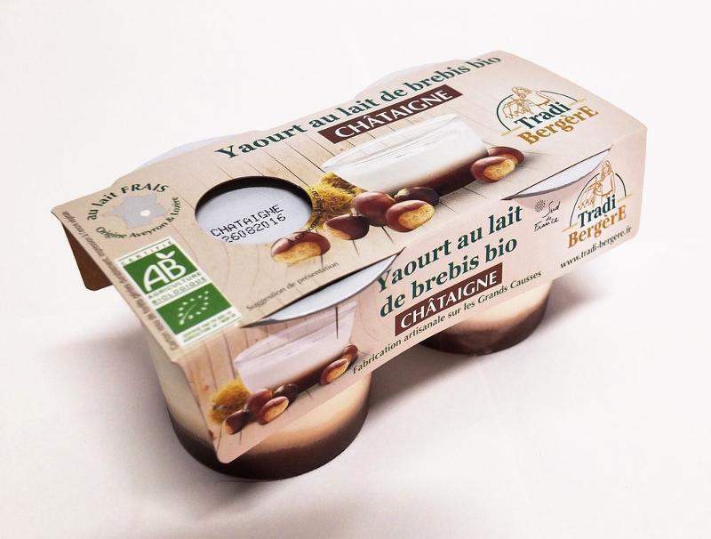 YAOURT AU LAIT DE BREBIS CHÂTAIGNE. (PACK 2 X 100 G) - Produits laitiers