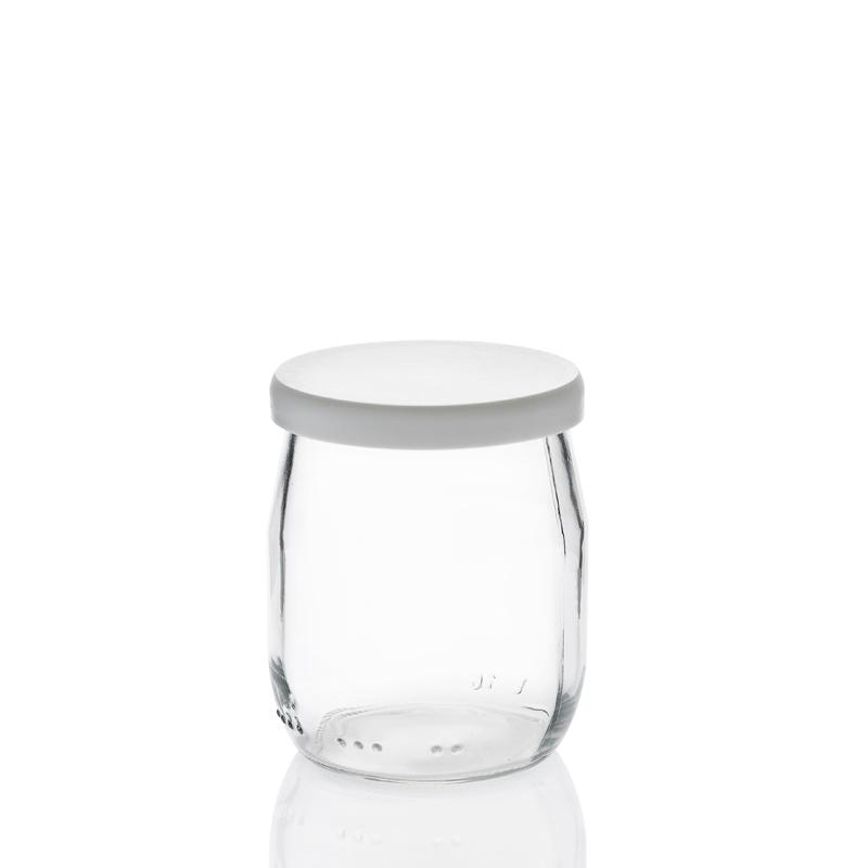 24 Capsules en PVC blanches  - pour pot de Yaourt 125 grammes (143 ml)