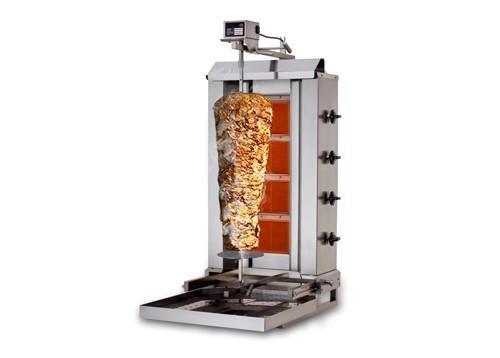 Gyros/doner kebab grill - Kebab Grill 4 burners (mobile) / max. 60 kg