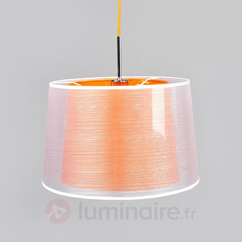Attrayante suspension en tissu Jasna avec LED E27 - Suspensions en tissu