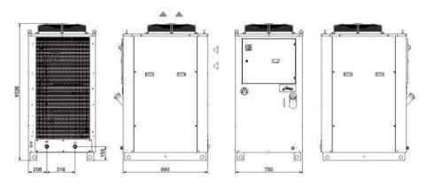 Tala1÷a8 Grandezza 2 Refrigeratori Industriali Per Acqua - LINEA REFRIGERAZIONE