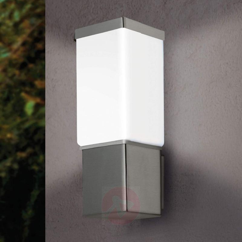 Calgary Outside Wall Light Straight-Lined - stainless-steel-outdoor-wall-lights