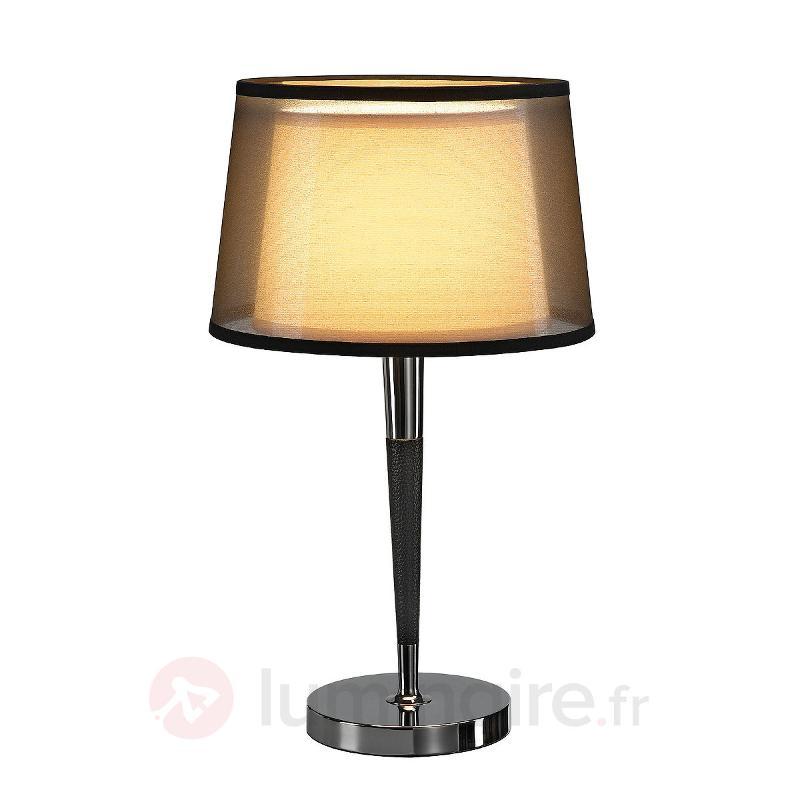 Lampe à poser Bishade semi-transparente - Lampes à poser en tissu