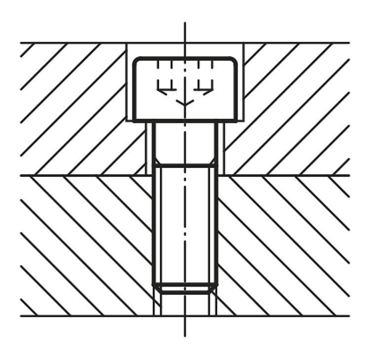 Vis à tête cylindrique à six pans creux DIN 912 / DIN... - Éléments de liaison