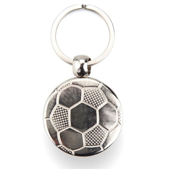 Fournitures de Porte-clé Métallique MFT Football de 1 Face