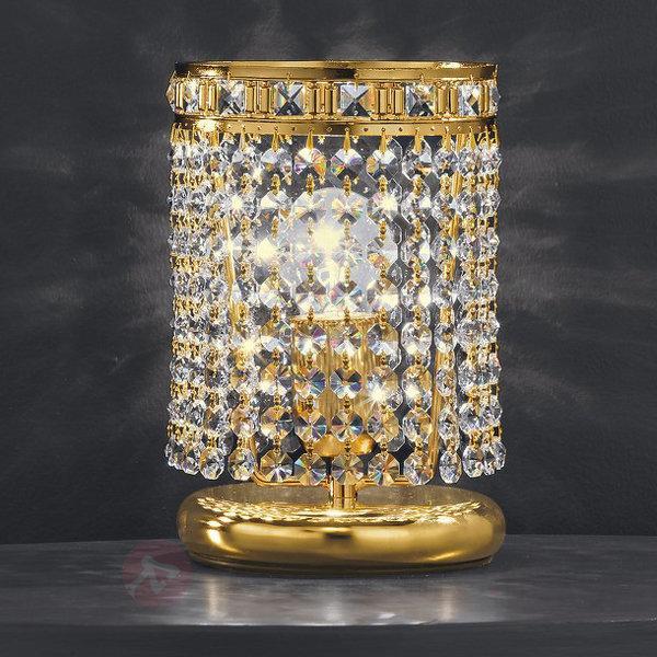 Lampe à poser Amsterdam plaquée or 24 carats - Lampes à poser en cristal