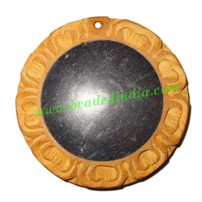 Handmade wooden fancy pendants, size : 50x9mm - Handmade wooden fancy pendants, size : 50x9mm