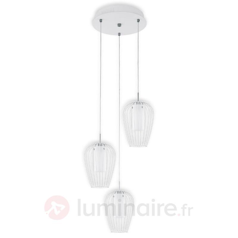 Suspension LED stylée Vencino en blanc - Suspensions LED