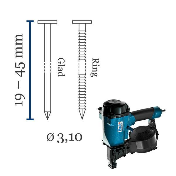 Asfaltnagels - Contimeta levert een uitstekende bijbehorende asfaltnageltacker