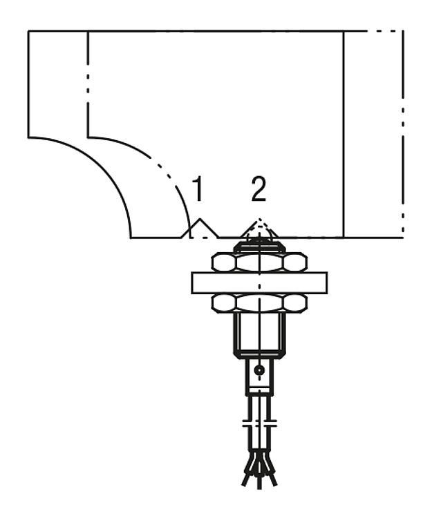 Poussoir à ressort avec détecteur de fin de course - Poussoirs à ressort