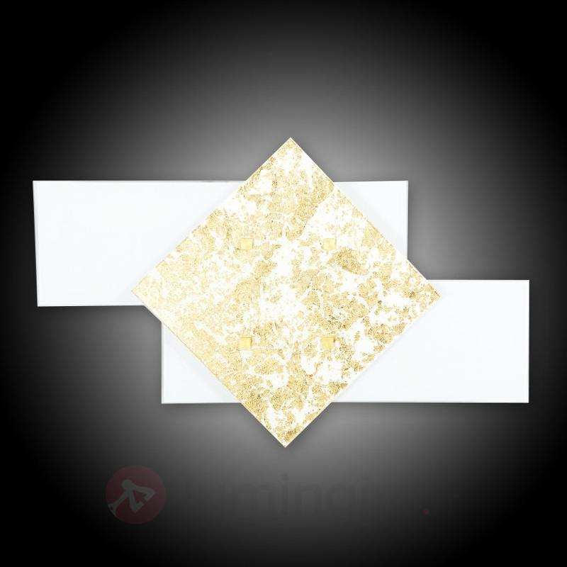Applique Bandiera décorée à la feuille d'or, 46 cm - Appliques en verre
