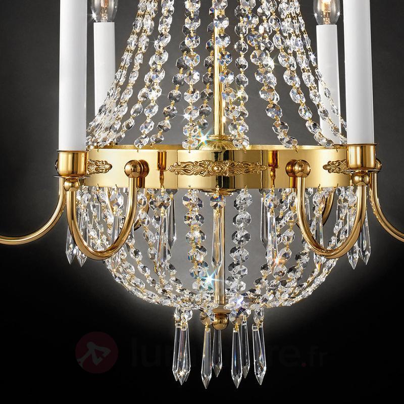 Lustre cristal Empire doré - Lustres en cristal