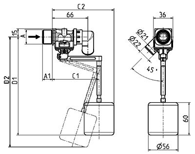 Float valve, DN 13 - 21.013.126