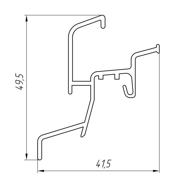 Aluminum Sump Profile Ат-5944 - Construction aluminum profile