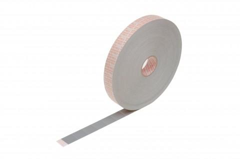 adhesive labels, made from grey special fabric,...