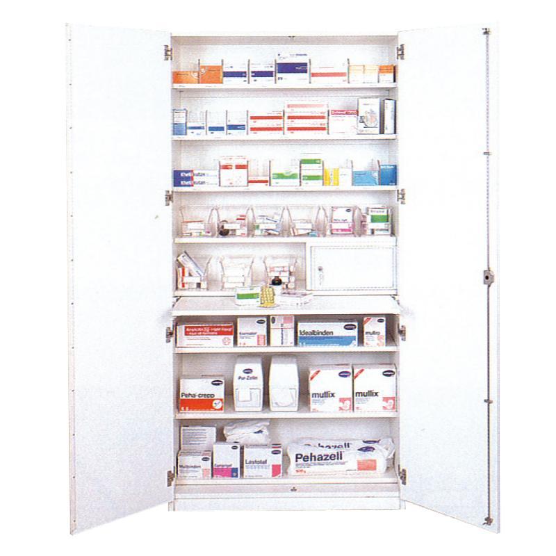 Medikamentenschrank Standard, weiß, 8 Fachböden - Medikamentenschrank