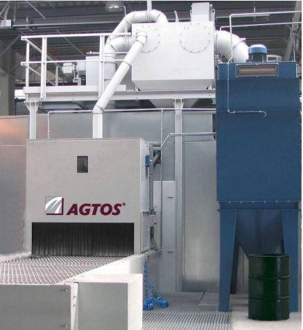 Wire mesh conveyor shot blast machine - Wire mesh conveyor shot blast machines in widths from 400 mm to 1600 mm