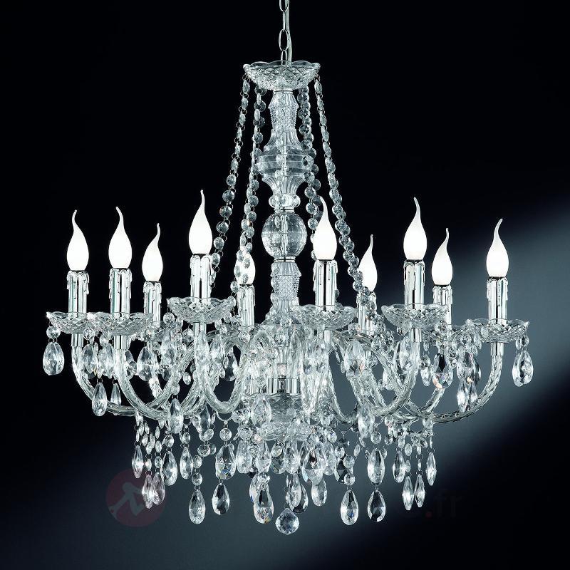 Perdita - lustre chromé à dix lampes - Tous les lustres