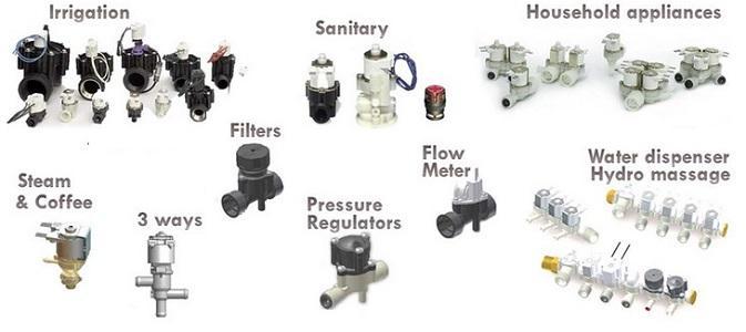 Plastic solenoid valves