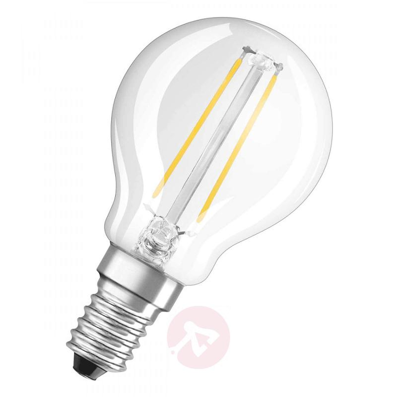 E14 4 W 827 LED golf ball bulb, set of two - light-bulbs