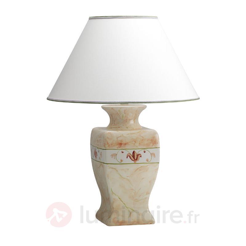 Lampe à poser Marmorino hauteur 70 cm - Lampes à poser en tissu