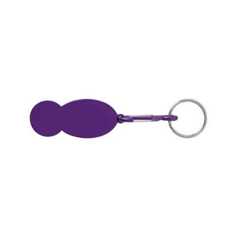 Porte-clés jeton argent - Porte-clés métal