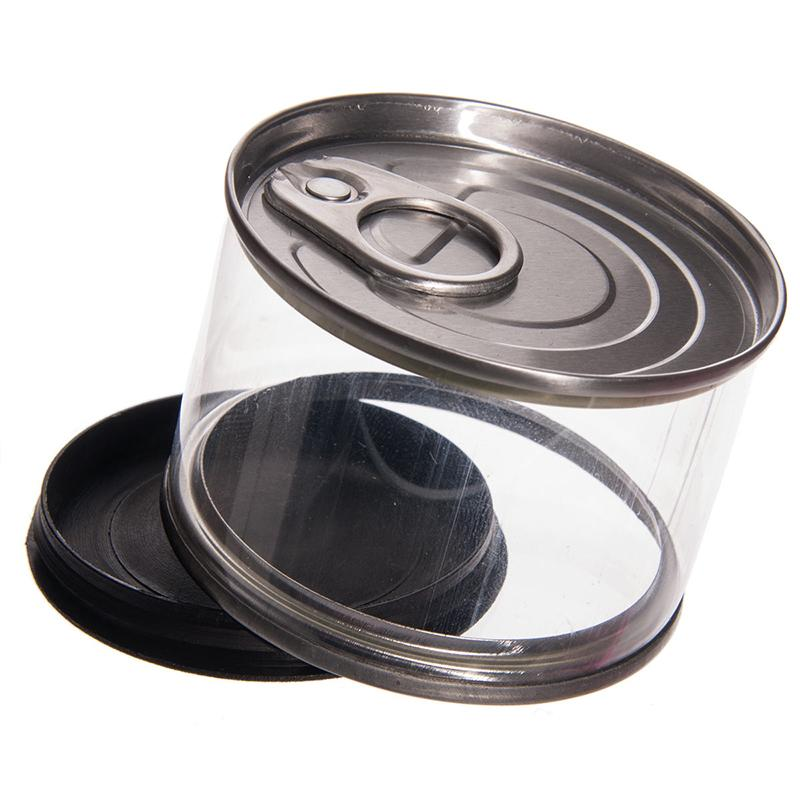 Can plastic candy box - silver plastic can candy box in plastic