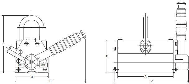 Aimants de levage permanents - Aimants de levage permanent QPM 100kg à 1.000kg