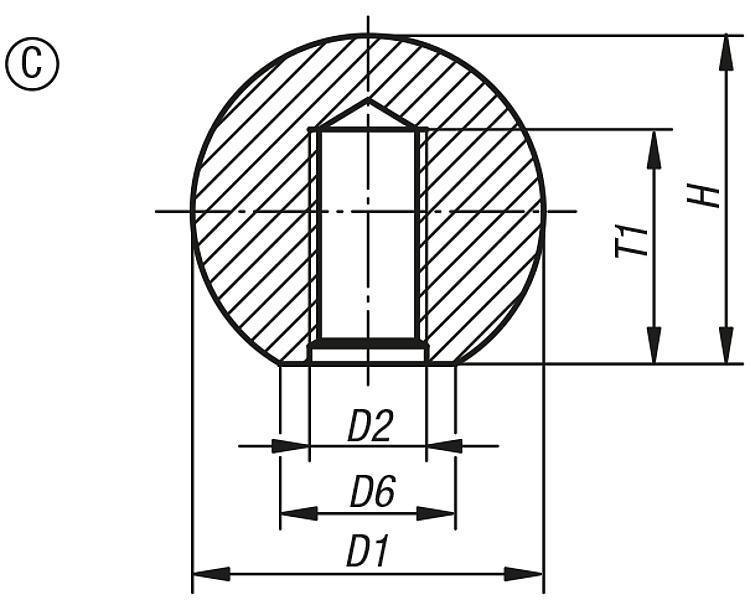 Boule en thermoplastique DIN 319 extension de gamme - Poignées et boutons