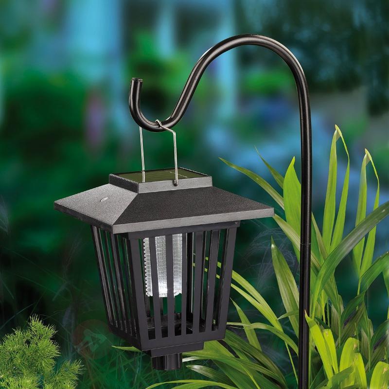 Lanterne LED solaire anti-moustique à LED bleue - Lampes solaires décoratives