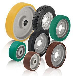 Rodas de tração e rodas para montagem em cubo -