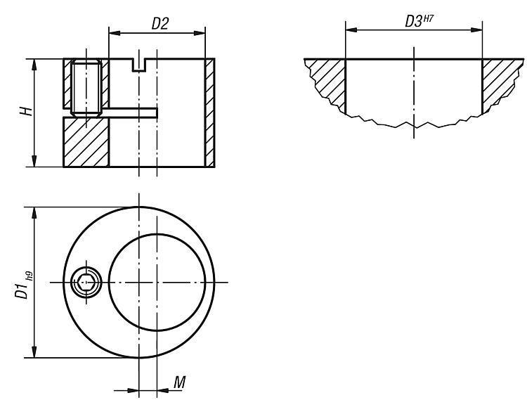Support excentrique et outil de montage pour poussoir... - Poussoirs latéraux à ressort