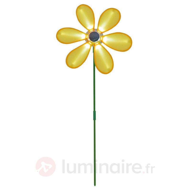 Lampe LED solaire KAZE moulin à vent jaune vert - Lampes solaires décoratives