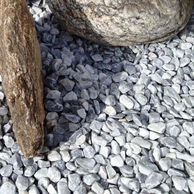 Sac de galet decoratif - Galet marbre gris Bardiglio chiaro