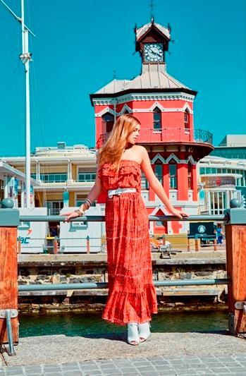 Miss Poem Straplez Kırmızı Elbise Cape Town