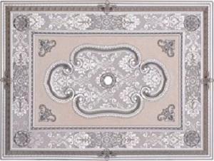 Gümüş Dikdörtgen Saray Tavan 90*120 cm (DD90120-G1) - Gümüş Dikdörtgen Saray Tavan