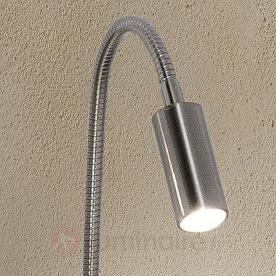 Lampe à poser LED Davina avec pince, nickel mat - Lampes à pince