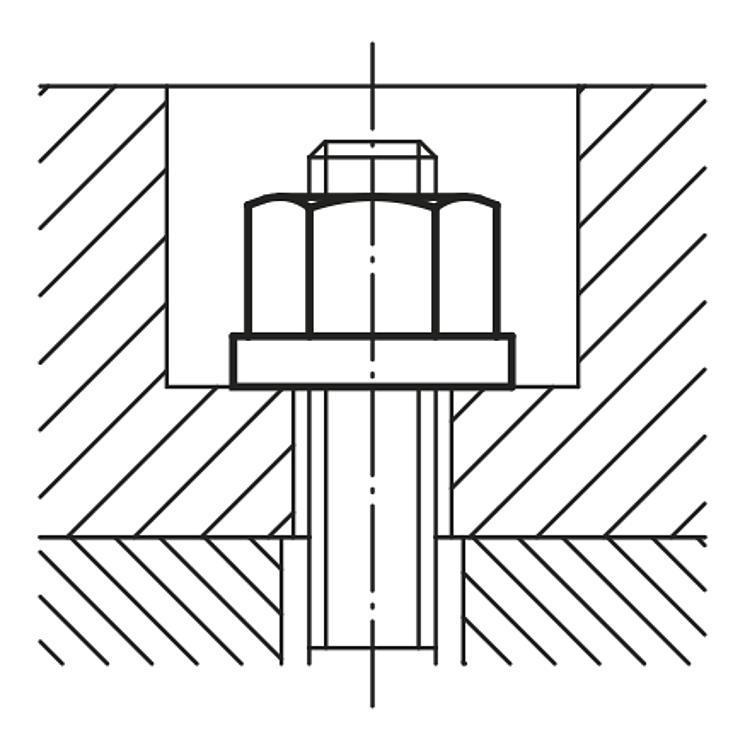 Ecrou à embase DIN 6331 extension de gamme - Accessoires