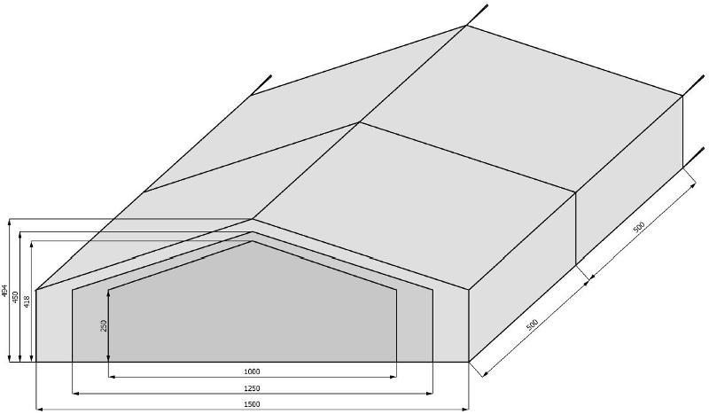 Tentes de stockage - Tentes de stockage - largeur 10m à 15m