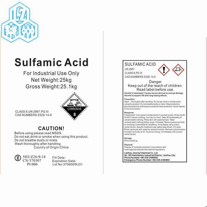 sulfamic acid  - 99.5% sulfamic acid / sulfamic acid factory /NH2SO3H On sales 99.5% and 99.8% gr