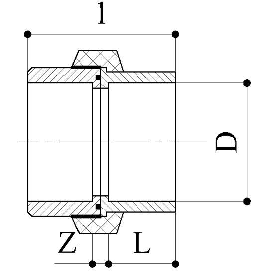 Bocchettoni - Raccordi PP Raccordi in Polipropilene per polifusione nel bicchiere