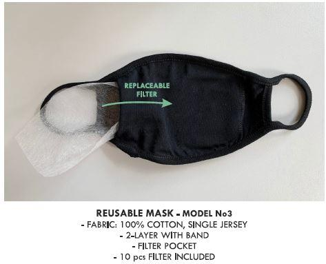 Reusable face mask - Reusable face masks with filters