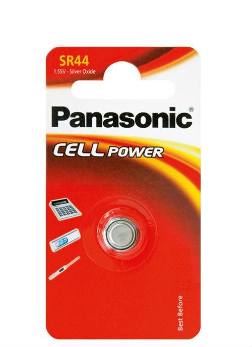 Microbatterie all'ossido d'argento SR44 - SR-44L/1B   Blister da 1 microbatteria a bottone Panasonic